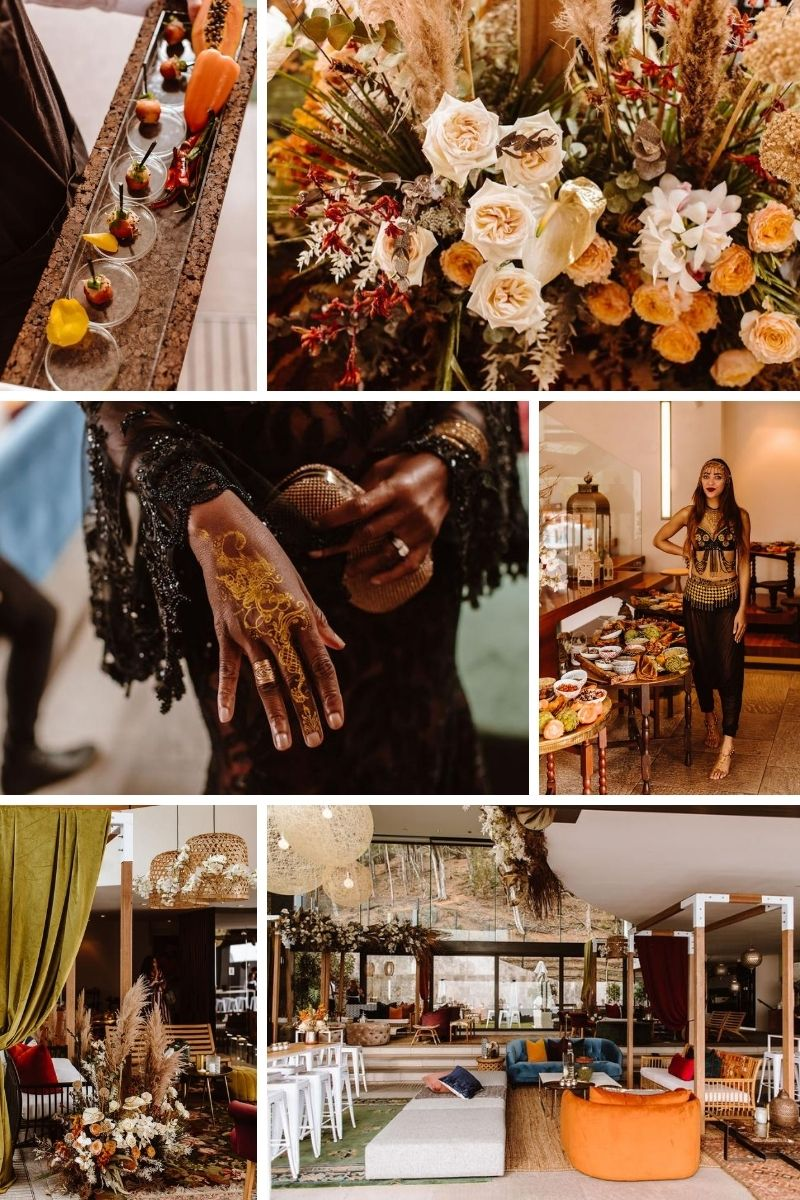 Moroccan themed wedding anniversary decor and styling