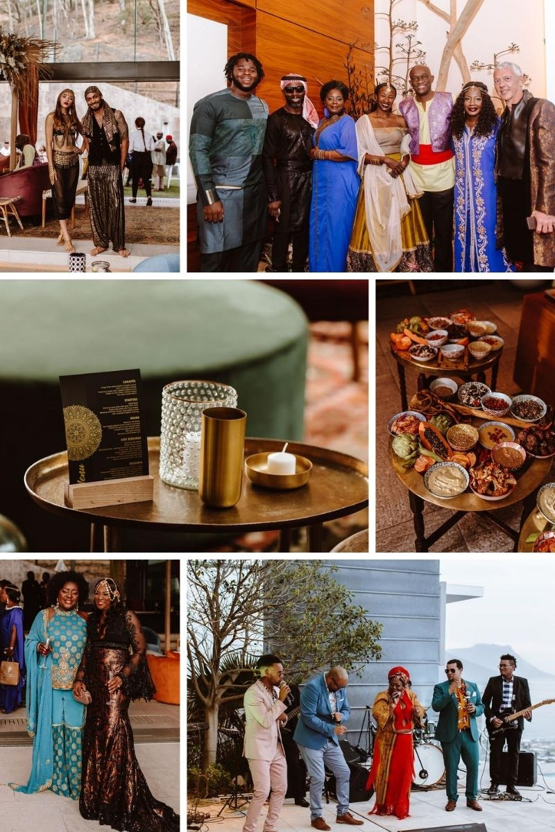 Moroccan wedding anniversary guests