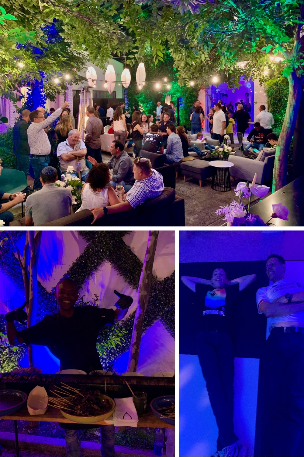 Live entertainment at outdoor Barmitzvah