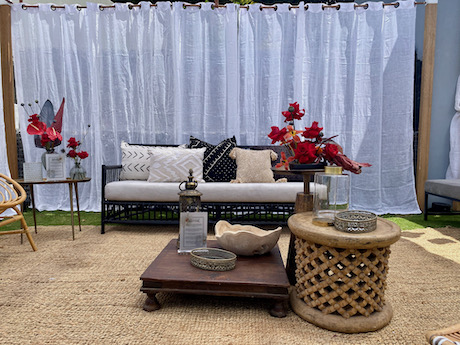 Outdoor Moroccan lounge seating